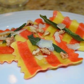Butternut Squash Ravioli with Crispy Sage Leaves