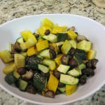 Roasted Zucchini and Cremini Mushrooms