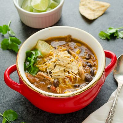 Slow Cooker Chicken Tortilla Soup is an easy dump 'n go recipe that everyone will love! @Flavorthemoment