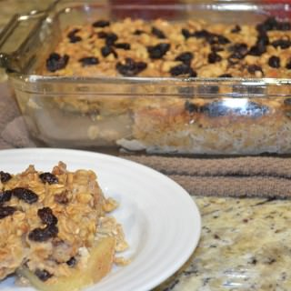 Apple Raisin Baked Oatmeal