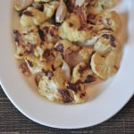Roasted Cauliflower with Garlic and Shallots