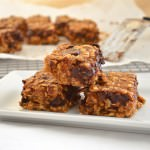 Soft Peanut Butter Banana Chocolate Chip Oat Bars