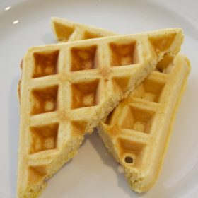 maple cornbread waffles