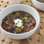Spicy Black Bean and Bacon Soup