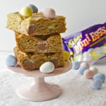 Peanut Butter Chocolate Mini Egg Blondies