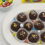 Stuffed Chocolate Malt Cookie Dough Truffles