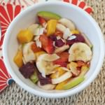 Fruit Salad with Grapefruit Brulee and Toasted Coconut