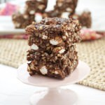 Chocolate Nutella Rockslide Bars with Hazelnuts