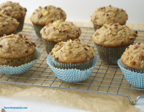 Hummingbird muffins on a wire rack