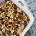 blueberry morning glory baked oatmeal