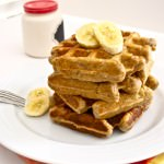 roasted banana bread waffles | flavor the moments