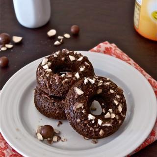 Double Chocolate Malt Donuts