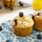 Healthier Blueberry Lemon Muffins