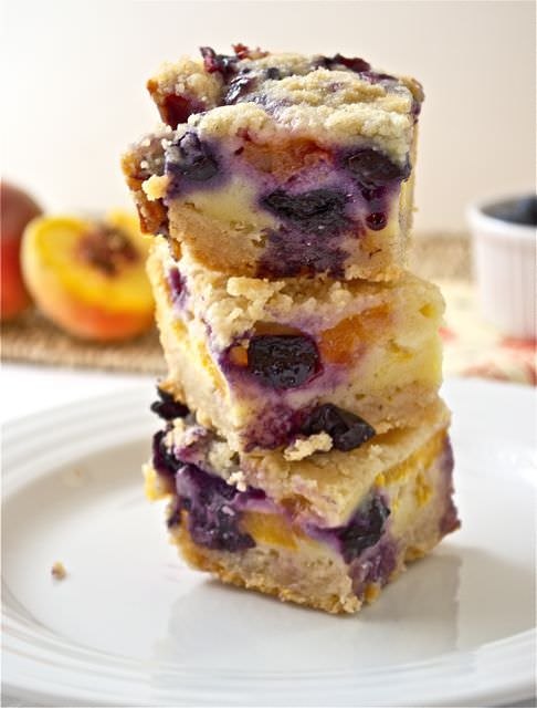 Blueberry Peach Pie Bars - Flavor the Moments