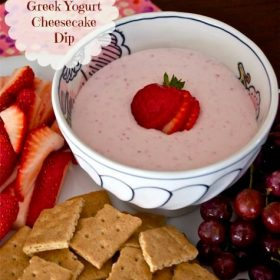 strawberry greek yogurt cheesecake dip