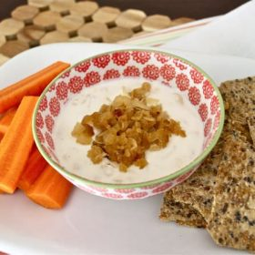caramelized onion greek yogurt dip1
