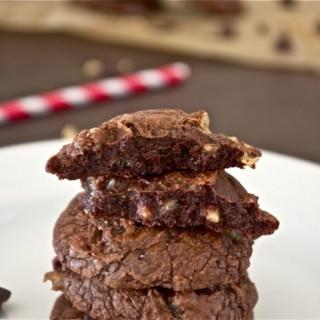 Chocolate Toffee Truffle Cookies