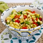 Grilled Corn, Pepper, and Zucchini Salad