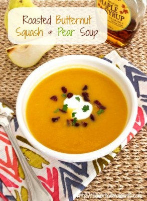 roasted butternut squash pear soup