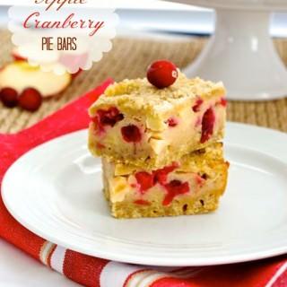 Apple Cranberry Pie Bars