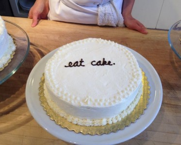 genoise with lemon curd and italian buttercream
