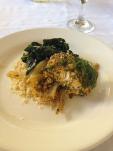 baked fish with fennel and chermoulah