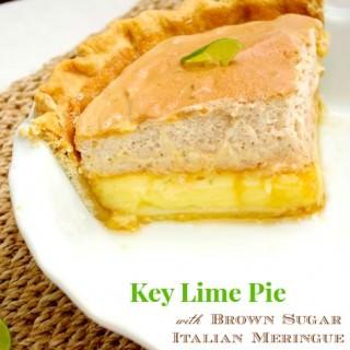 Key Lime Pie with Brown Sugar Italian Meringue