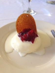 panna cotta with cranberries