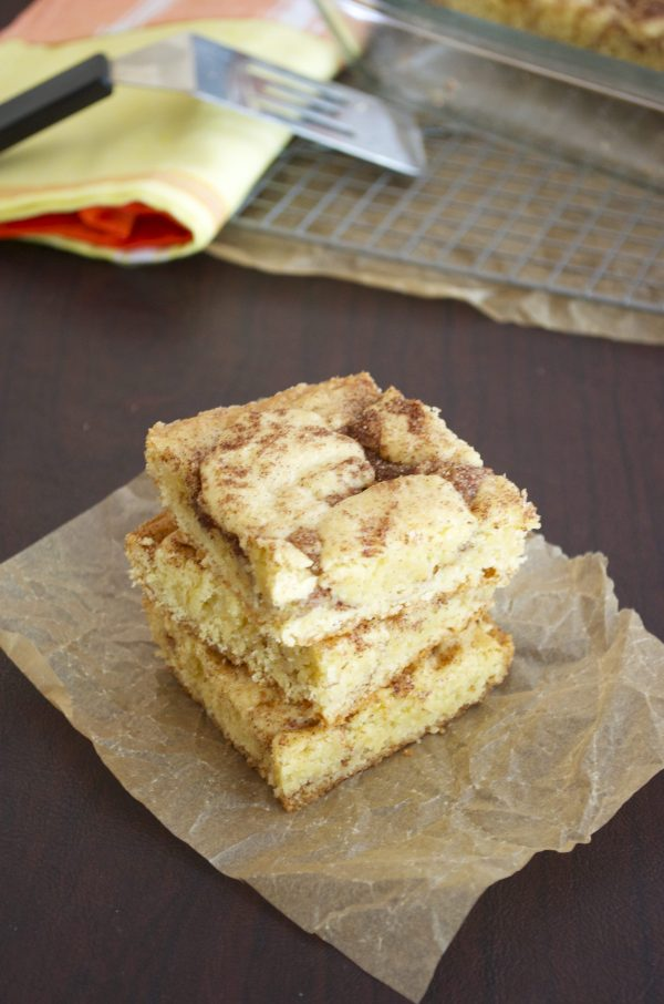 Snickerdoodle Bars close up