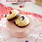Chocolate Dipped Coconut Macaroon Thumbprints