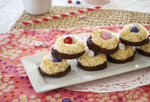 chocolate dipped coconut macaroon thumbprints3