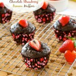 Healthier Chocolate Strawberry Banana Muffins