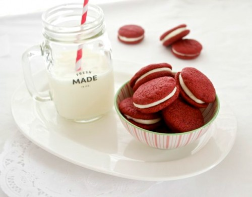 homemade red velvet sandwich cookies2