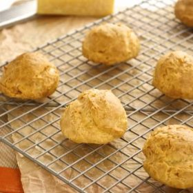 Gougeres cooling on wire rack