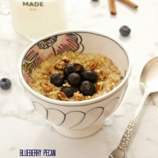Blueberry Pecan Breakfast Quinoa