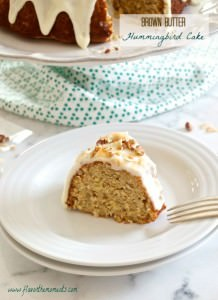 Brown Butter Hummingbird Cake