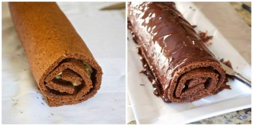 How to make german chocolate roll cake 6