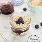 Blueberry Overnight Oatmeal Parfait
