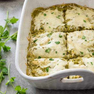 Chicken Enchilada Bake with Homemade Salsa