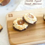 Salted Caramel Chocolate Dipped Coconut Macaroons