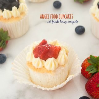 Angel Food Cupcakes with Fresh Berry Compote