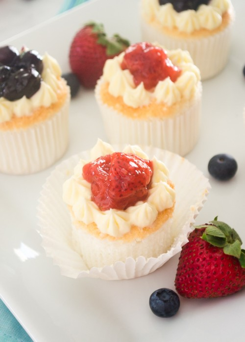 angel food cupcakes with fresh berry compote4 | flavorthemoments.com