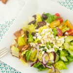 greek pita chip panzanella salad1 | flavorthemoments.com