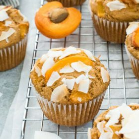 apricot muffin collage