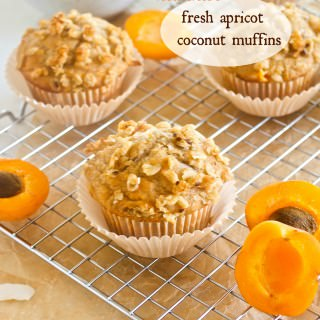 Healthier Fresh Apricot Coconut Muffins {Farmer's Market Friday}