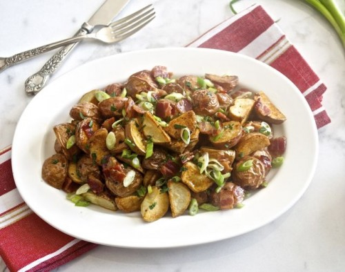 maple bacon roasted red potato salad6 | flavorthemoments.com