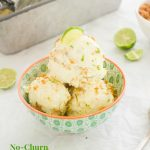 No Churn Key Lime Pie Ice Cream with Coconut Graham Cracker Crumble