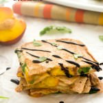 peach caprese quesadilla1 | flavorthemoments.com