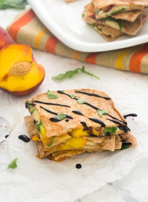 peach caprese quesadilla2 | flavorthemoments.com