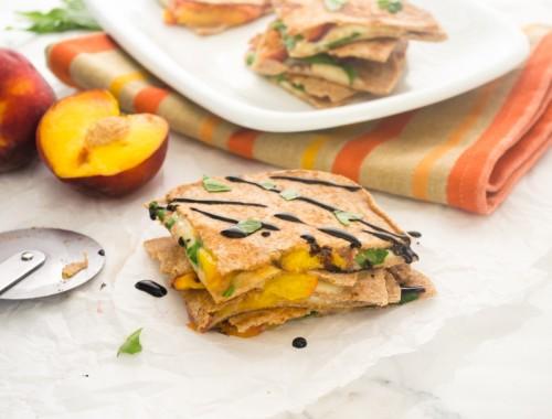 peach caprese quesadilla3 | flavorthemoments.com